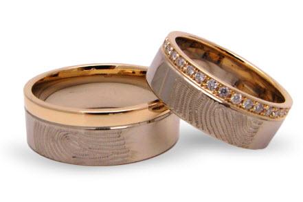 ringen met vingerafdruk