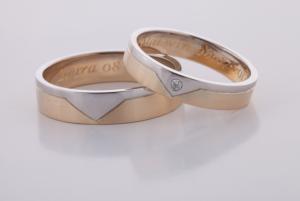 Geel wit gouden ringen 1