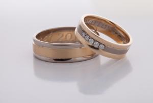 Geel wit gouden ringen 3
